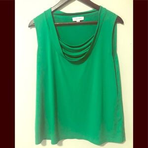 Calvin Klein xl blouse green